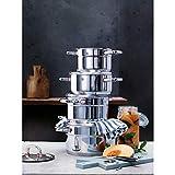 WMF Premium One Topfset Induktion 6-teilig, Kochtopf Set mit Metalldeckel, Cromargan Edelstahl poliert, Töpfe Set unbeschichtet, Innenskalierung - 2