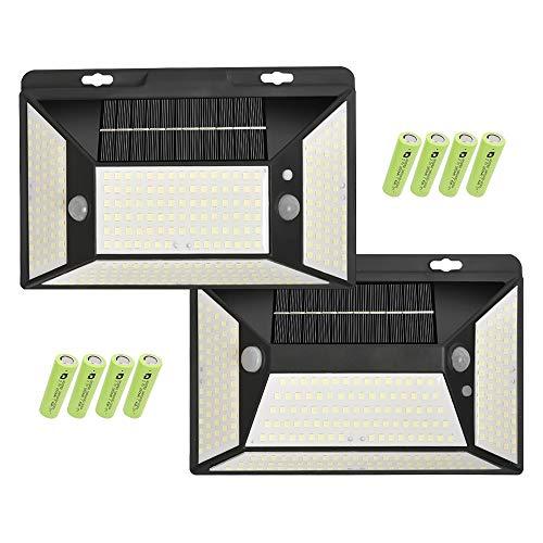 光の剣 ソーラーライト 5面発光 316led 2つ人感センサー 屋外 せんさーらいと センサーライト 廊下 U字型フック付き 貼付可能 取り外し可能 工具なし装着可能 電池式 電池交換可能(12800mah 18650付き) 2セット Y250