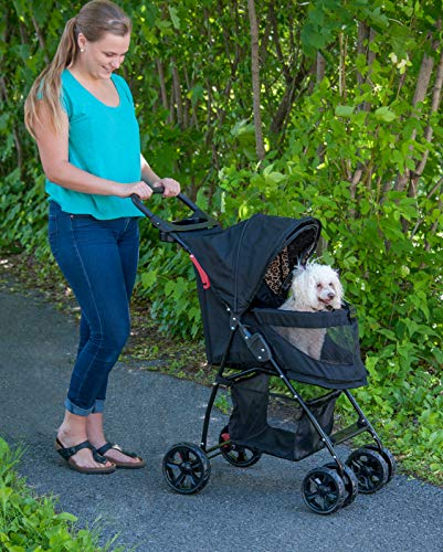 Pet Gear Happy Trails Pet Stroller for Cats/Dogs, Easy Fold with Removable Liner, Storage Basket (PG8030NZJGA) 2