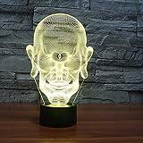 (Solo 1) Lámpara 3d gigante de One Eyed 7 Lámparas de noche Led de 7 colores para niños Toque Led Usb Table Lampara Lampe Baby Sleeping Nightlight Head Portrait