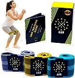 Juego de bandas de resistencia de tela AAN para fitness, con 3 niveles diferentes (antideslizante, agradable y fuerte) para deportes, entrenamiento y desarrollo muscular
