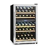 Klarstein Vinamour 40D Cave à vin Black Edition - 2 zones, 135L, 41 bouteilles, température : 5-18°C, 41 dB, porte en verre double, cadre en acier inoxydable, éclairage intérieur, noir