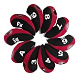 Andux Numero Etichetta coprimazza Ferri per Golf 10pcs/Set MT/S08 Nero/Rosso...