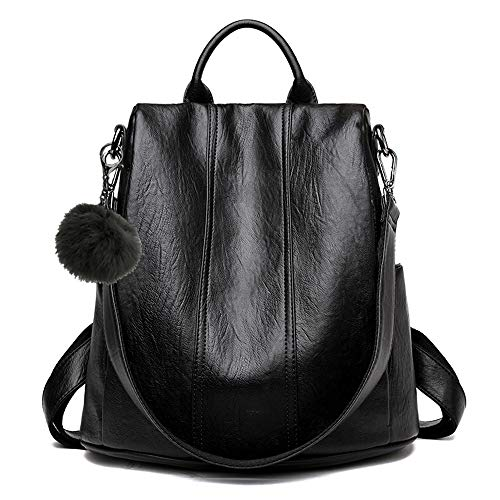 Women Backpack Purse Soft Leather Anti-theft Casual Shoulder Bag Fashion Ladies Satchel Bags
