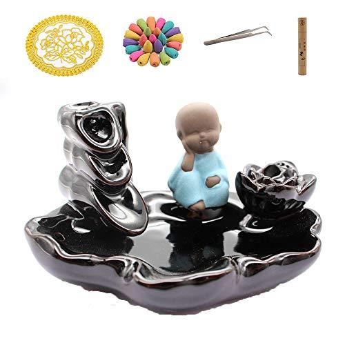 Quemador Incienso reflujo, Quemador Incienso cerámica en Cascada, Utilizado para decoración del...