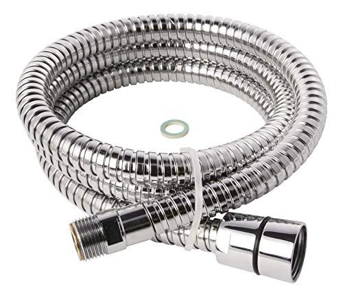 Geschirrbrauseschlauch für Küchenarmaturen | 3/8 x 1/2 x 1250 mm | Brauseschlauch | Messing | Chrom | Schlauch für Geschirrbrause