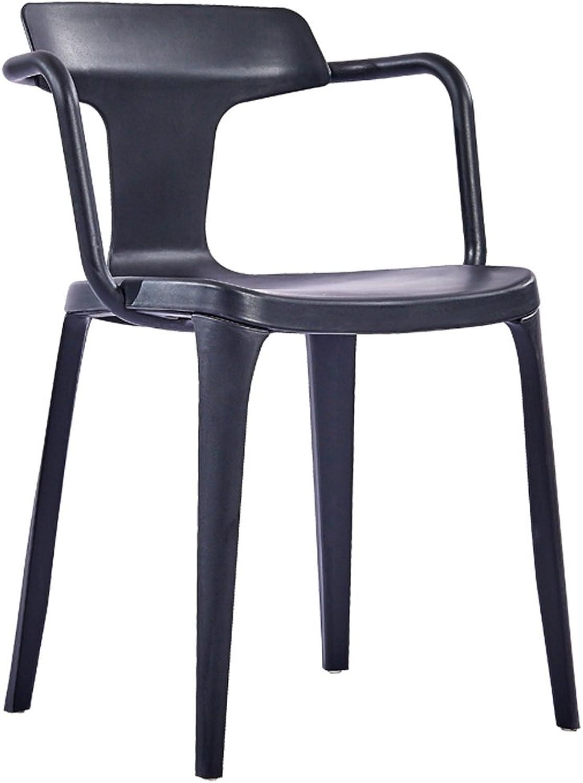 LRW Nordic Modern Minimalist Creative Leisure Chair, Home Plastic Backrest Armchair