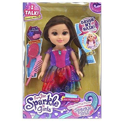 Boneca Funville Sparkle Girlz Pequena Brilhante Princesa - Dtc 4221 - Tati