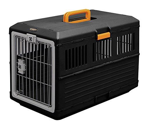 Iris Folding pet Carry Black / orange medium-Sized Dog
