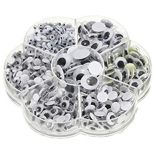 Premium Qualität 500Pcs Box Mix 7 Größen Selbstklebende Runde Googly Augen für Puppe Spielzeug DIY DekorCarry Stone