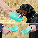 PoochBox Pet Water Bottle for Walking or Outdoor Travel with Bowl Dispenser, Antibacterial