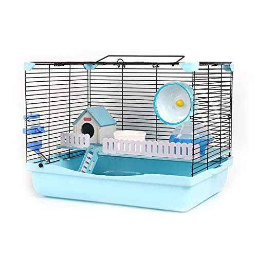 CSDY-Hamster Cage House,Kit Breathable Small Animals, Hamster Habitat Cage Transparent Double-Layer Nest Gerbil Cage,473234 cm,C