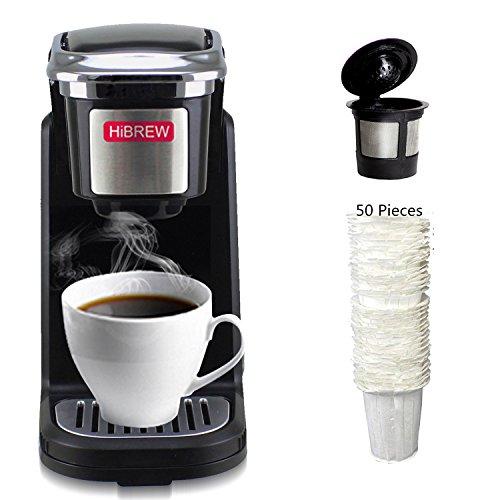 HiBREW Single Serve Black Compact Coffee Brewer Coffee Maker...