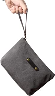 Canvas Makeup Bag Pouch Purse Handbag Organizer with Zipper Dopp Kit Purse (gray)