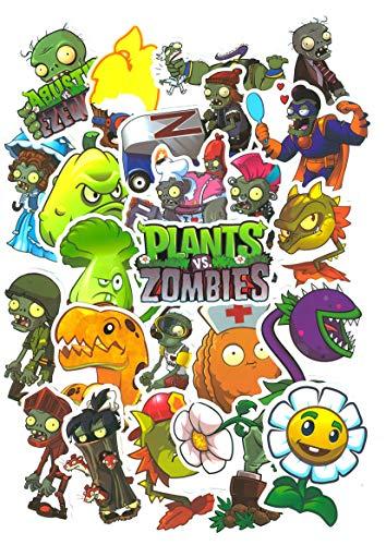 Top Aufkleber ! Set von 99 Plants Vs Zombies Aufkleber Premium Qualität - Vinyls Stickers Nicht Vulgär – Plants VS Zombis - Anpassung Laptop, Gepäck, Moto, Fahrrad, Skate
