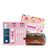 LetsShave Evior 6 All in One Combo Gift Set for Women (1 Razor Handle, 2 Blades Cartridge, 2 Blade Cases, 3 Face Hair Removal Razors, 1 Shaving Foam 200 gm- Paraben and Sulphate Free)