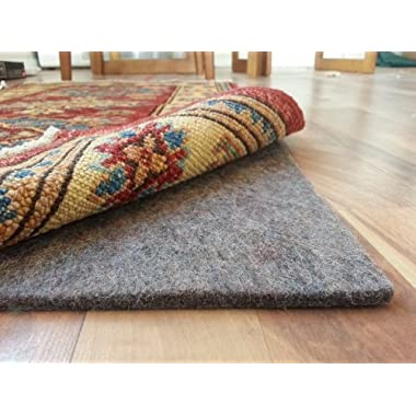 Rug Pad Central 6' x 9' 100% Felt Rug Pad, Extra Thick- Cushion, Comfort and Protection