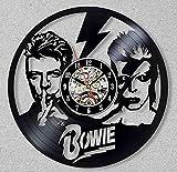 Reloj de Pared 3D, músico, Etiqueta de Tema de música de diseño Moderno Vintage Vinyl Wall Clock Fan Regalo de Reloj de Pared (12 Pulgadas)
