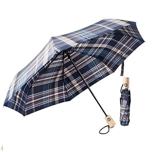 Regenschirm Automatischer boy ® Taschenschirm 7 Edelstahl-Rippen Windsicher Schirm, Sturmfest bis 140 km/h, 210T Teflon-Beschichtung Reise-Regenschirm f¡§1r Damen & Herren, Hellbraun