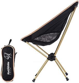 SADVA アウトドアチェア 折り畳み コンパクト椅子 超軽量 耐荷重90kg 専用ケース付き お釣り 登山 携帯便利 キャンプ バーベキュー 簡単に収納 (Color : Gold)