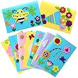 Kids Greeting Card Making Kit, Hicdaw 9Pcs Card Making Kits for Kids Greeting Card Kit DIY Handmade Card Making Supplies Art Crafts Crafty Set Gifts