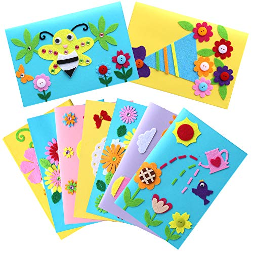Kids Greeting Card Making Kit, Hicdaw 9Pcs Card Making Kits for Kids Greeting Card Kit DIY Handmade Card Making Supplies Art Crafts Crafty Set Gifts