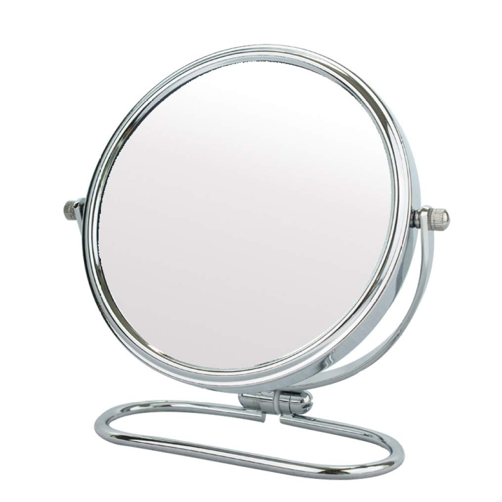 Makeup Mirror Vanity Max 78% OFF Double-Sided Metal Home 100% quality warranty Foldable Per