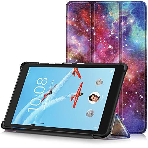 TTVie Hoes voor Lenovo Tab E8, Ultraslanke Lichtgewicht Slimme Standaard Beschermhoes voor Lenovo Tab E8 8 Inch Tablet 2018 Release, Melkweg