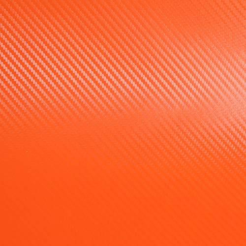 オレンジ 橙 3Dカーボンシート 5枚 A4サイズ ブラック カーボンシール カッティング用シート カーボンシール カーボンフィルム 気泡が入りにくバブルフリー加工 ドライヤーで施工がもっと楽に