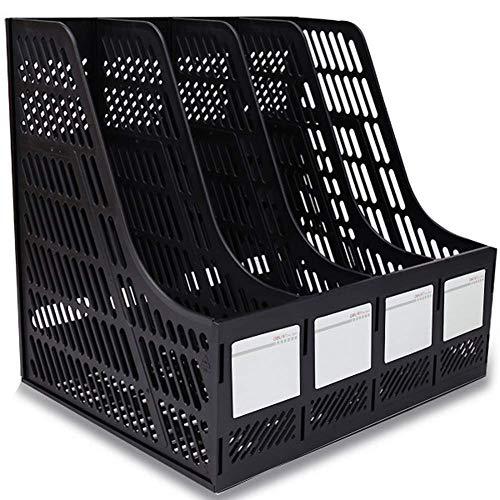 XBSLJ Vaschette portacorrispondenza, Portadocumenti a 3 Scomparti e portariviste, scrivania in plastica Robusta, Organizer per Documenti da scrivania, Scatola portaoggetti per cancelleria da scri