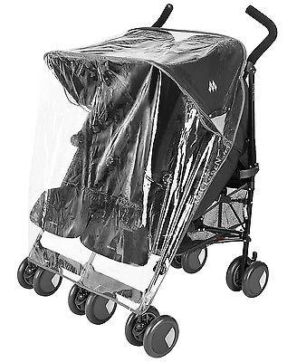 Protector de lluvia Compatible con Chicco Echo Twin–Carrito doble (213)