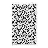 ABAKUHAUS Tier Wandteppich, Graphic Black and White Fur Inspired Animal Skin Print Texture Illustration, aus Weiches Mikrofaser Stoff Wand Dekoration Für Schlafzimmer, 140 x 230 cm, Weiß & Schwarz