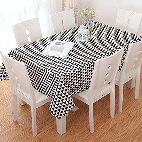 XGguo Bordsdukar i plast bordsskydd för inomhus- eller utomhusfester födelsedagar bröllop fyrkantigt gitter fräsch pastoral