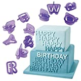 40 Pcs/Lot Number Letters Happy Birthday Plastic Fondant Cake Decoration Tools Font Alphabet Cookie Biscuit Cutter 86011