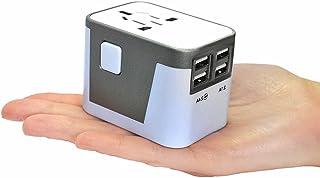 YaFex Power Adapter Travel Charger 3500mA 4 USB Port Power Converter Plug for Europe USA UK Australia - Universal World Tr...