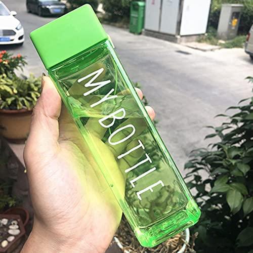Taza de agua mate de plástico transparente de 1500 ml, taza para deportes acuáticos de jugo frío para exteriores con cuerda de leche portátil, taza de agua-Francia, 500 ml, tipo 8
