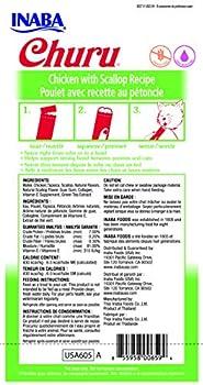 INABA Friandise Liquide pour Chat Saveur Poulet/Pétoncle 50 g