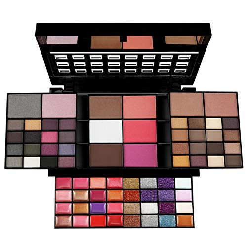 Pure Vie® 74 Colores Sombra De Ojos Corrector Rubor y Brillo de Labios Paleta de Maquillaje Cosmética - Perfecto para...