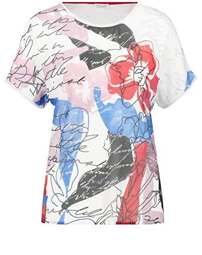Gerry Weber Damen Shirt Mit Art-Print Figurumspielend Ecru/Azuro/Poppy Druck 44