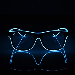c46fbdf436 Keng Gafas de sol luminosas LED con alambre de color neón LED para bailar,  fiesta