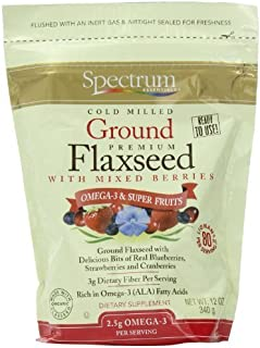 Spectrum Essentials Ground Flaxseed with Mixed Berries, 12 Ounce Pouch (Pack of 2) by Spectrum