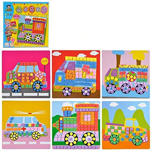 3D Eva Foam Sticker Multi-Muster Stile Zufällig senden DIY Cartoon Tier Puzzles für Kinder Kinder Weihnachten Geschenk(D)