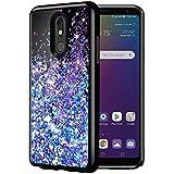 Caka LG Stylo 5 Case, LG Stylo 5 Glitter Case Starry Night Series Luxury Fashion Bling Flowing Liquid Floating Sparkle Glitter Soft TPU Black Case for LG Stylo 5 (Blue Purple)