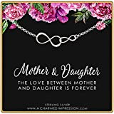 A Charmed Impression Mother Daughter Gift • Two Connected Infinity Links Charm Bracelet • Infinite Love • Handmade Bracelet for Women