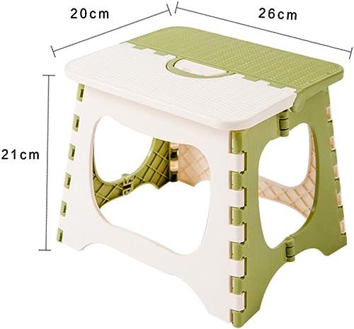 bajo precio del 40% RFJJ Taburete de plástico Plegable Plegable Escabel Taburete, Taburete, Taburete, 19CM   21CM de Alto, Carga máxima 60 70 Kg, para el hogar y al Aire Libre, verde (Tamaño   L)  barato y de alta calidad