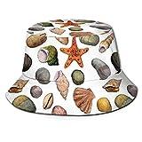 Sombrero de poliéster, texto de fiesta en la playa en la figura de micrófono retro debajo de las hojas de palma bosquejadas, sombreros de ala ancha para mujeres, hombres, adolescentes