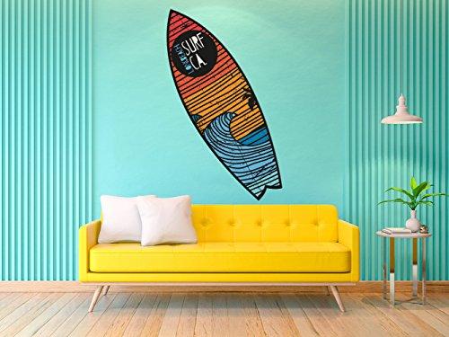 Figura Pegasus Pared Tabla Surf Long Beach Surf | Figura para Paredes | Decorativo | Varias Medidas 140 x 42 cm | Decoración comedores, Salones, Habitaciones.