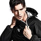 HOTSUIT Sauna Suit Men Weight Loss Jacket Pant Gym Workout Sweat Suits, Black, M