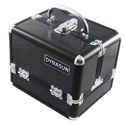 DYNASUN BS35 21x17x17cm Schwarz Designer Beautycase Schminkkoffer Kosmetikkoffer Schmuckfach Beauty Case Reise Box
