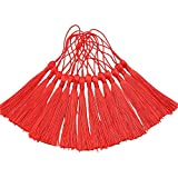 Creanoso Segnalibro nappe, Rosso (100 pezzi) - 100% handmade Anti-spiegazzato Premium Quality - Grande per i segnalibri, creazione di gioielli, progetti fai da te, arti e mestieri Creations